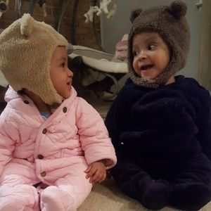 Baby Gap Teddy Bear Hats with strap